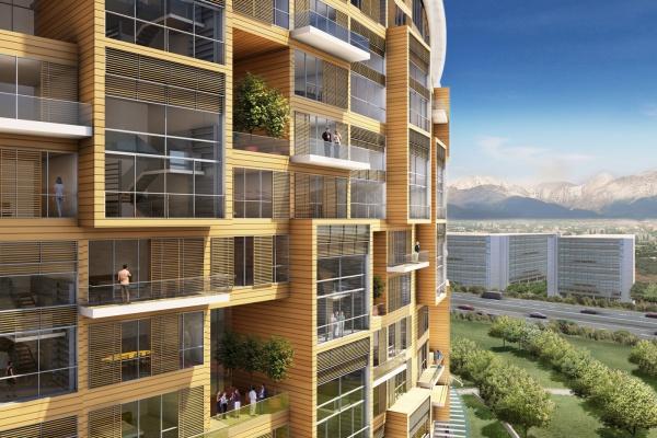 Luxuriöse Wohnungen in den Seitenflügeln